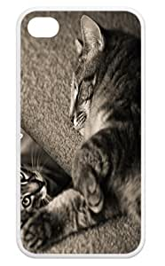 Fashion Cases Frisky Cat Back iPhone 4,4s Cases Cover
