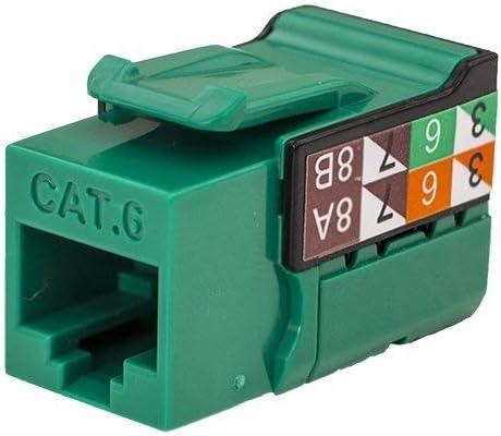 50 pack Green Color - V-Max Series CAT6 RJ45 Keystone Jack