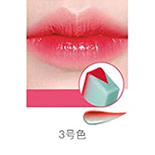 ThinkMax Women New Fashion Gradient Color Matt Lipstick Pencils Beauty Makeup Fruit Smell Two-tone Tint Lip Bar