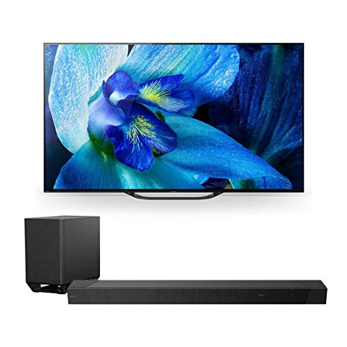 Sony XBR-55A8G 55″ BRAVIA OLED 4K HDR TV with HT-ST5000 7.1.2ch 800W Dolby Atmos Sound Bar