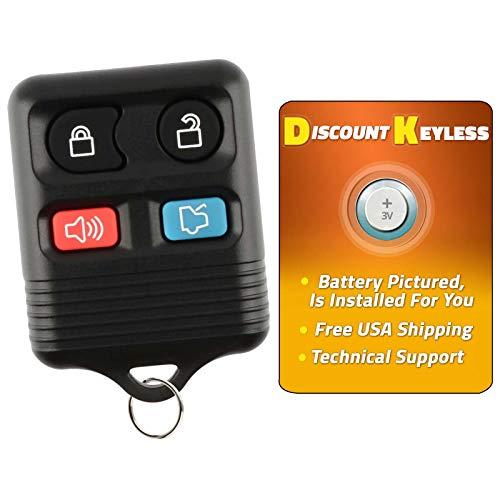 Discount Keyless Replacement Keyless Entry Car Remote Control Key Fob Clicker Compatible with Fod Lincoln Mercury