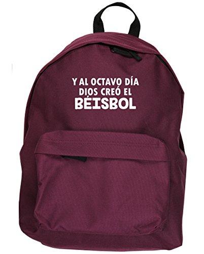 HippoWarehouse Y Al Octavo Día Dios Creó El Béisbol kit mochila Dimensiones: 31 x 42 x 21 cm Capacidad: 18 litros Granate