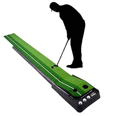 Signstek Indoor Outdoor Golf Auto Return Putting Trainer Mat