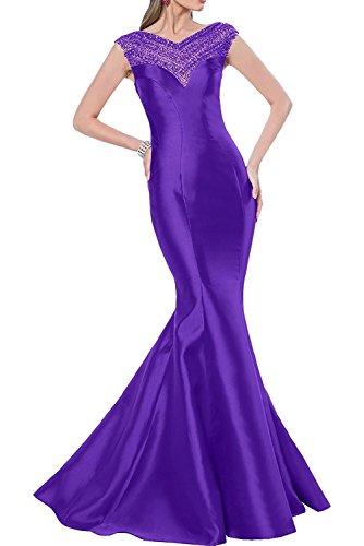 La Brautjungfernkleider Romantisch Abendkleider Lang Meerjungfrau Pink Lila Marie Braut Satin Promkleider rYwr0E