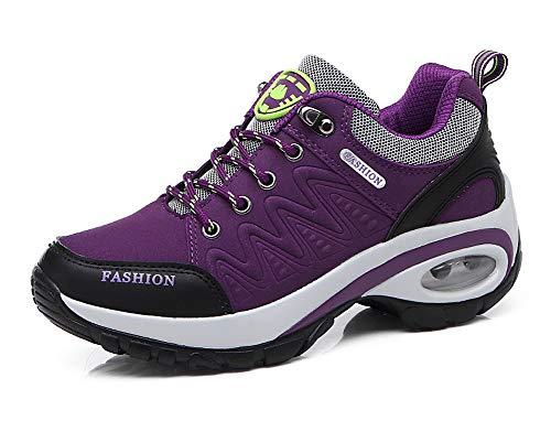 Aitaobao Mujer Zapatillas de Running Gimnasia Zapatos Deportivos Aire Libre y Deportes Zapatillas de Trekking Morado