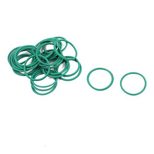 DealMux 30Pcs 15 mm x 1 mm FKM nitrilo juntas tó ricas de goma resistente al calor de sellado del anillo de pasahilos verde DLM-B01N94RZL5