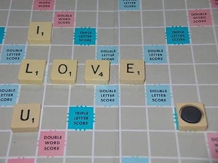 6 x Scrabble I LOVE U imanes de Scrabble Original en caja de regalo: Amazon.es: Hogar