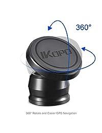 IKOPO - Soporte magnético para teléfono de coche con adhesivo VHB más fuerte en el salpicadero (B)
