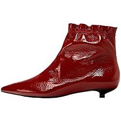 Zara Women Flat patent finish leather ankle boots 5152/201 (36 EU | 6 US | 3 UK)