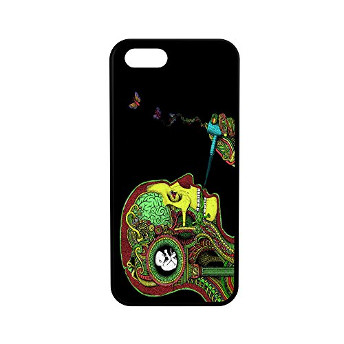 Weed Mind Protective Rubber Phone Case Psychedelic Trippy (Compatible with iPhone 5/5s/se)