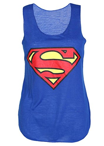 Superman+tank+tops Products : Crazy Girls Womens Superman Superhero Print Vest Tank Top.