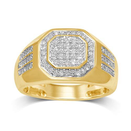 Diamond Jewel 10K Yellow Gold 1/2 Cttw White Diamond Gent's Fashion Ring