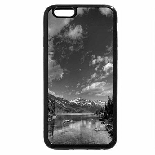 iPhone 6S Plus Case, iPhone 6 Plus Case (Black & White) - wonderful river
