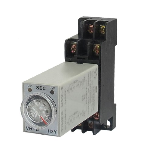 28 H3Y-2 24VDC DPDT 60 Seconds 8P Terminals Delay Timer Time Relay w Base ()