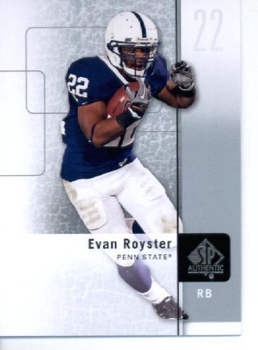2011 SP Authentic Football Cards #62 Evan Royster RC - Penn State Nittany Lions (RC - Rookie Card) washington Redskins (NFL Trading Card) ()