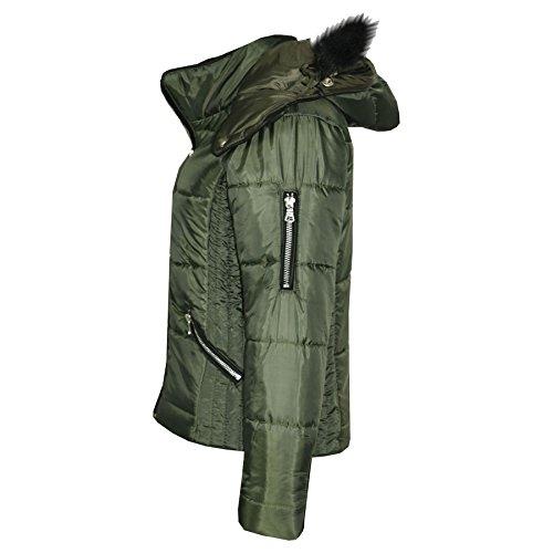 72677edac A2Z 4 Kids® Girls Jacket Kids Cropped Padded Puffer Bubble Fur ...