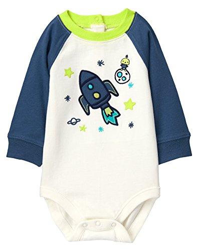 Gymboree Baby Boys Raglan Long Sleeve Bodysuit, Space, 6-12 MO (Gymboree Boy Clothes Baby)