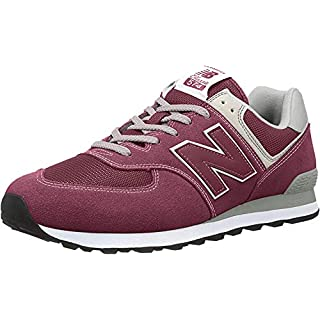 New Balance Men's 574 V2 Evergreen Sneaker, Burgundy/Grey, 14 M US
