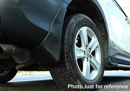 Black 4Pcs Front and Rear Car Mud Flaps Splash Guard Fender Mud Guards Mudguard Mudflaps for RAV4 2013 2014 2015
