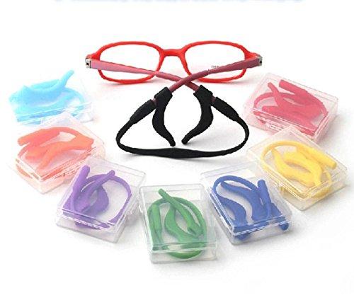 douper Anti-slip Eyeglass Strap & Ear Lock Hook Kit for Kids Soft Silica Gel Material Random Color Pack of - Material Eyeglasses