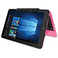 RCA Cambio 10.1-Inch 2-in-1 Tablet PC with Detachable Keyboard (Intel Atom Z3735F,2GB RAM,Windows 10), Pink