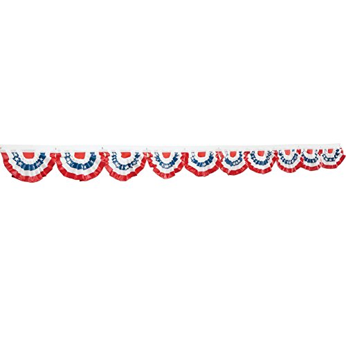 Patriotic Mini Flag Bunting - Set Of 10, Multi, Polyester