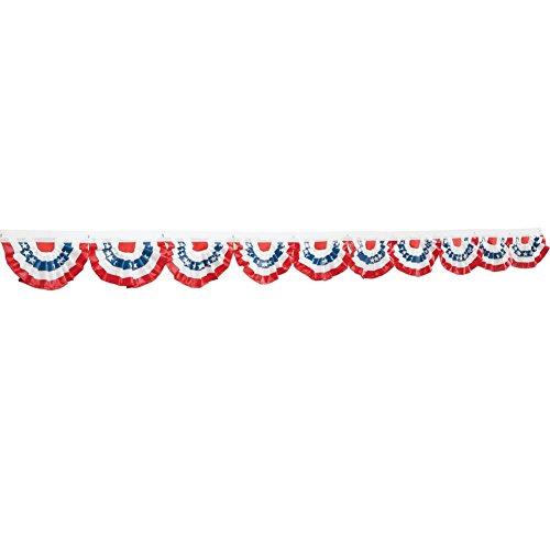 Patriotic Mini Flag Bunting - Set Of 10, Multi, Polyester