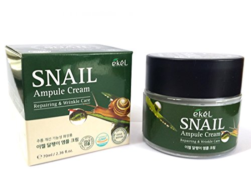 [EKEL] Snail Ampule Cream 70ml / Repairing & Wrinkle Care / hydrating cream / Korean Cosmetics