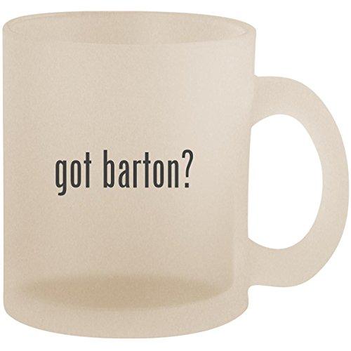 (got barton? - Frosted 10oz Glass Coffee Cup Mug)