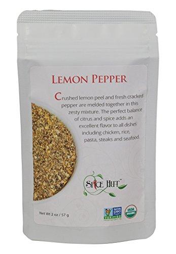 Lemon Pepper Steak (The Spice Hut Organic Lemon Pepper, 2 Ounce)