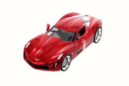 Jada 2009 Chevy Corvette Stingray Concept, Red 97467 - 1/24 Scale Diecast Model Toy Car