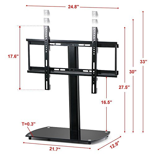 World Pride Universal TV Tabletop Base Stand with Adjustable Mount
