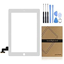 iPad 2 Replacement Screen, Universal Buying(TM) White Front Touch Digitizer Assembly Replacement include Touch Screen + Flex Cable+Adhesive Stickers+Free Repair Tools for ipad 2nd ( White )