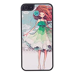 Green Skirt Girl Pattern Hard Case for iPhone 5/5S