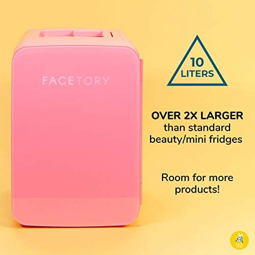 FaceTory Portable Coral Beauty Fridge (10-L / 12 Can) with Heat and Cool Capacity