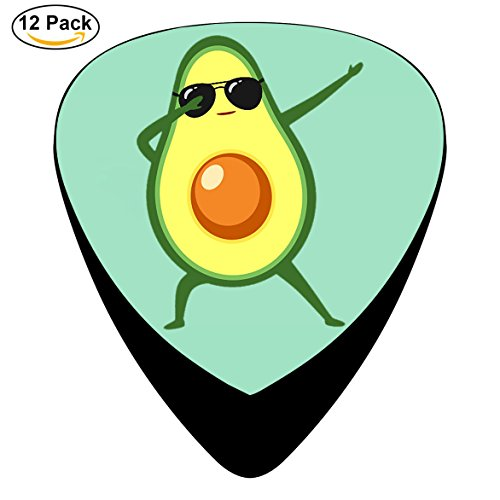 Dabbing Avocado With Sunglasses Guitar Picks 12-Pack, Light, Medium and - Vegan Sunglasses Are