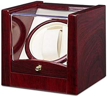 Klarstein Cannes – Reloj de pulsera, caja de reloj, capacidad: 1 reloj automático, sentido de rotación izquierdo y derecho, ritmo de rotación preprogramado, negro o rosa