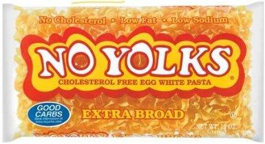 No Yolks Egg White Pasta Extra Broad 12 Oz -2 Bags (Egg White Pasta)