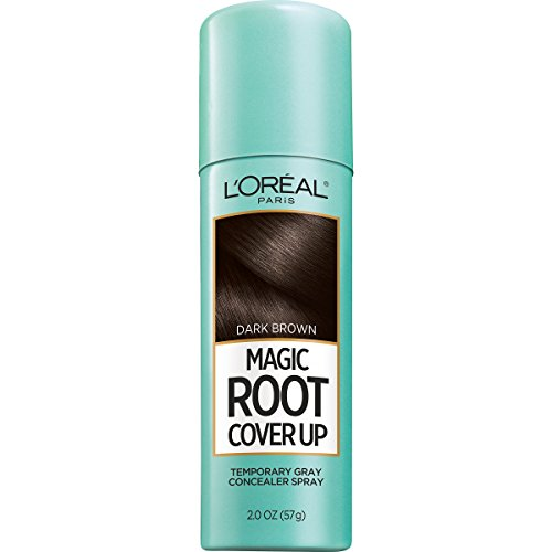 L'Oreal Paris Magic Root Cover Up Gray Concealer Spray, Dark Brown, 2 oz.(Packaging May Vary)