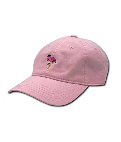 Riot Society Flamingo Embroidered Adjustable Dad Hat (One Size, (Embroidered Flamingo)