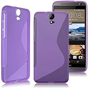 Calans HTC One E9 Plus S Body Tpu Case Cover With Screen Protector -Purple