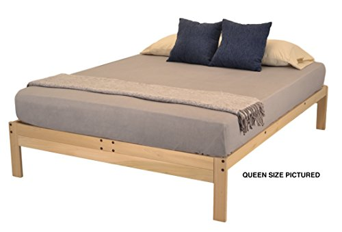 World of Futons Nomad Plus Platform Bed - Queen (Bed Unfinished Queen)