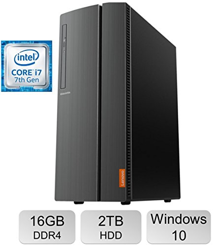 Newest Premium Lenovo IdeaCentre 510A Desktop PC, Intel Quad Core i7-7700 3.6 GHz Processor, 16GB DDR4 ,2TB HDD, HD Graphics 630, SuperMulti DVD Burner, Bluetooth, HDMI, 802.11ac WiFi, Windows 10