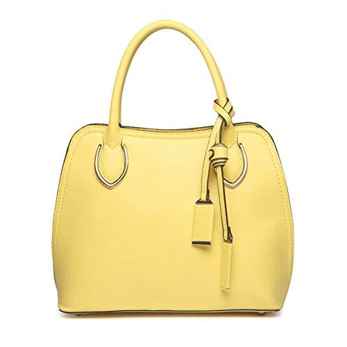 New QCKJ-Lorenz-Borsa a spalla da donna, in ecopelle, colore: giallo