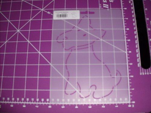 Quilt Stencil Scotty Dog Sitting