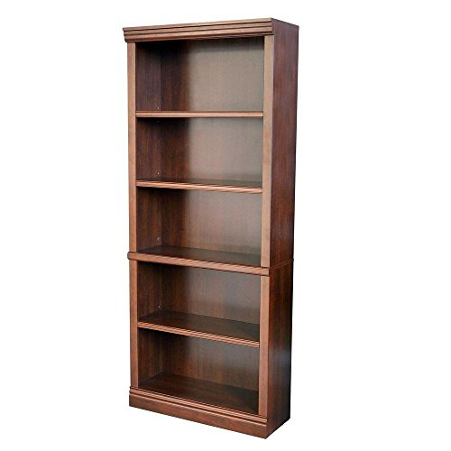 Hampton Bay THD130419.1a 5-Shelf Decorative Bookcase in Dark Brown