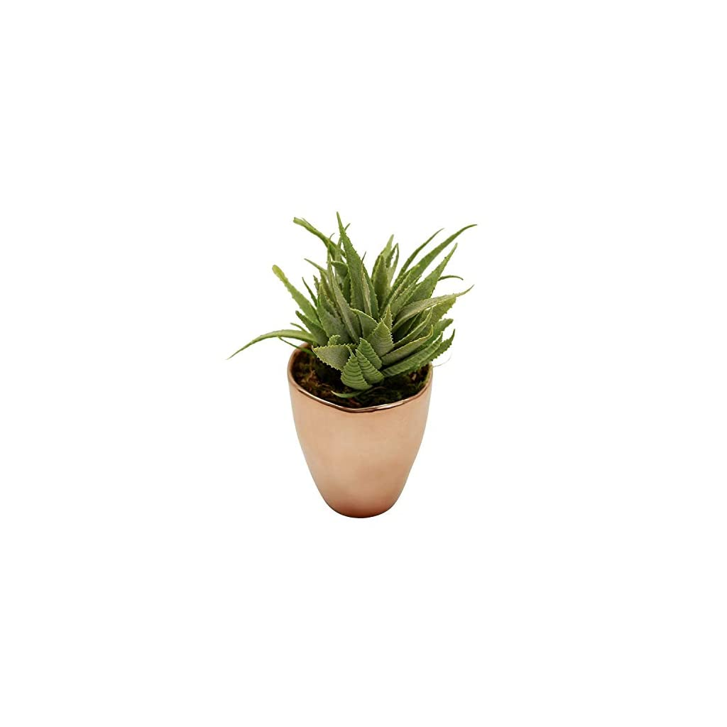 Small-Faux-Aloe-Succulent-in-Rose-Gold-Ceramic-Planter-4-x-6-Inches-Marmalade-Decor-Potted-Artificial-Plant-in-Shiny-Copper-Glazed-Pot-Global-Modern-Metallic-Decor-for-Home-or-Office