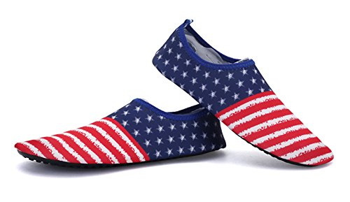 Demetory Unisex Outdoor Water Shoes Neoprene Lightweight Quick-Dry Barefoot Aque Socks Swim, Walking, Yoga, Beach, Water Park by Demetory (Image #3)