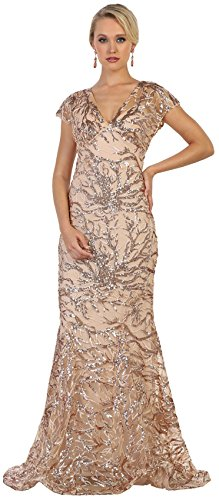 e6ed5b9fab5 Formal Dress Shops Inc Royal Queen RQ7585 Modern Mother Of The Bride Plus  Size Dress (Taupe