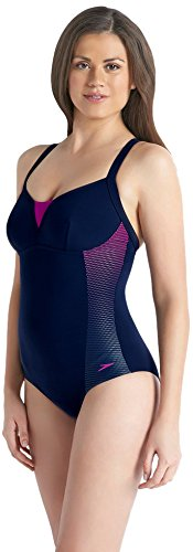 Speedo Damen Sculpture Shinedream Placement 1 Piece Badeanzug